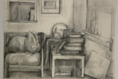 Bob's House - Charcoal Drawing